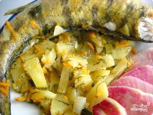 Наша чудо-рыбка под названием судак готова! Наслаждаемся сочным и нежным вкусом! Приятного аппетита!