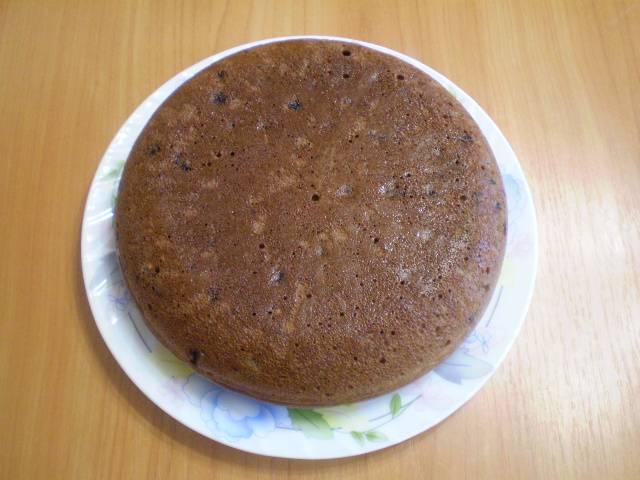 Готовый пирог переверните красивой стороной вверх и остудите. Приятного!