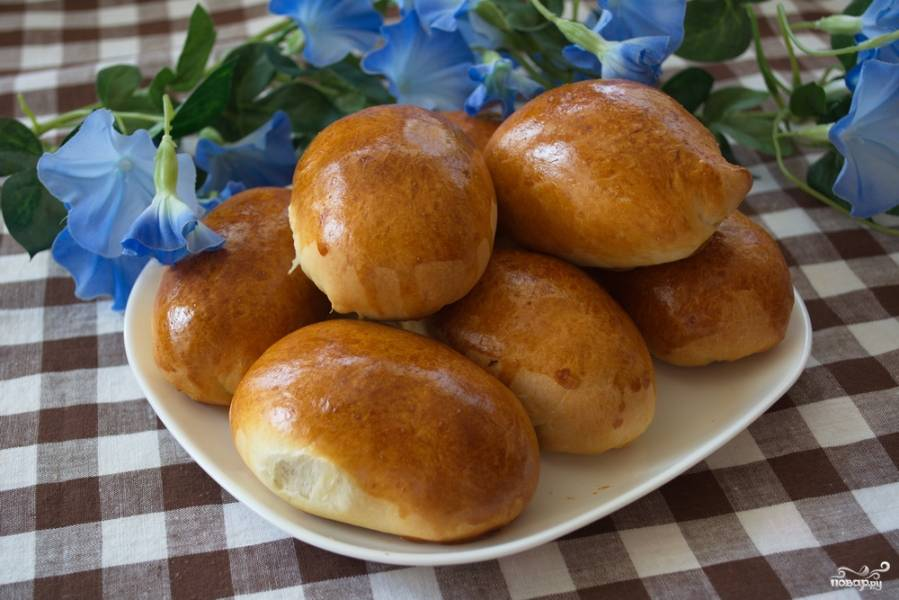 Пирожки с капустой духовые