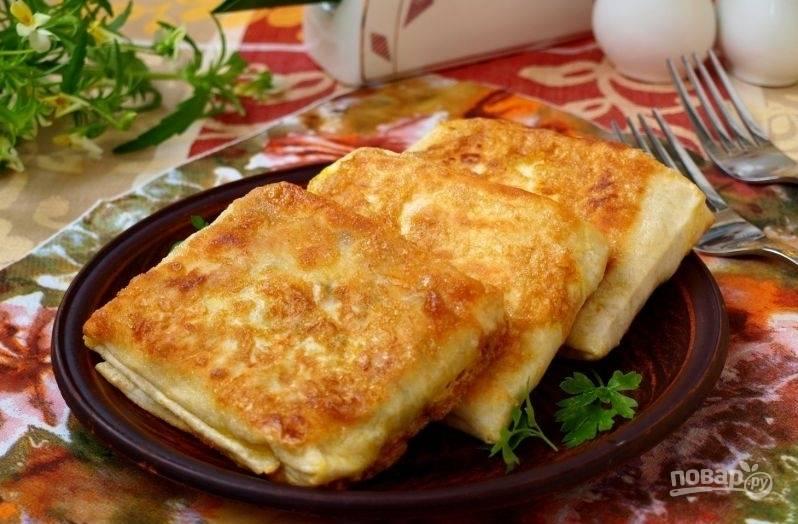 Горячий лаваш с сыром
