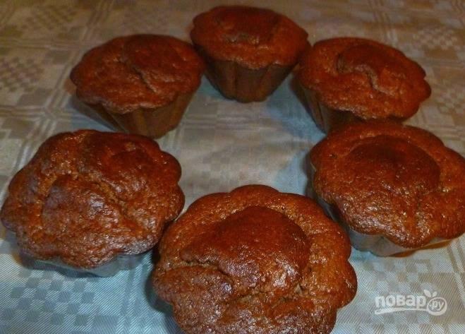 7. Вот такие красивые у нас получились кексы, и они понравились всем домашним. По вкусу не скажешь, что кексы диетические и низкокалорийные.
