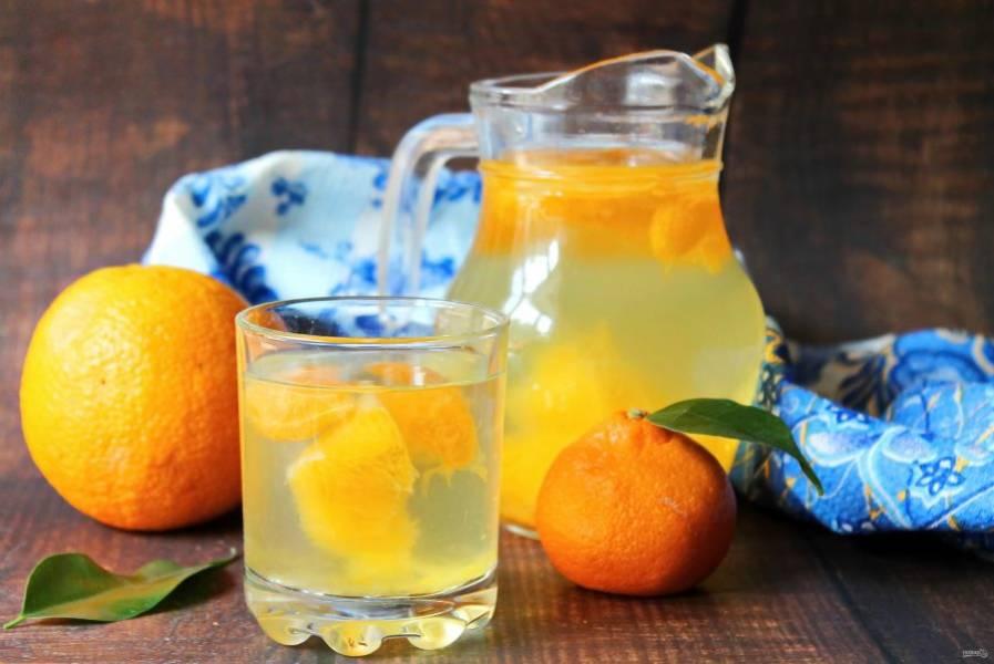Компот из апельсинов и мандаринов готов!