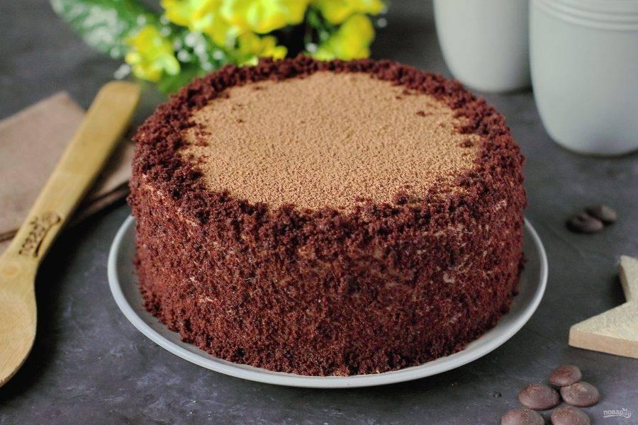 Влажный шоколадный торт готов. Приятного чаепития!
