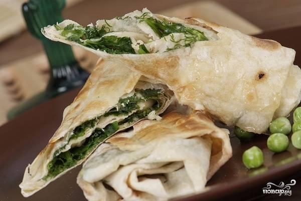 Лаваш с зеленью по-армянски
