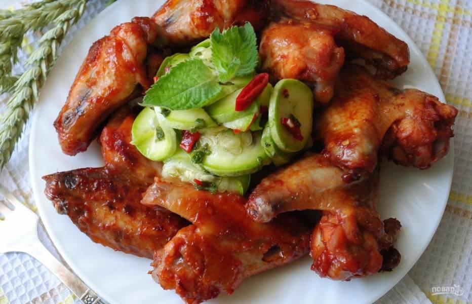 Куриные крылышки в маринаде (в духовке)
