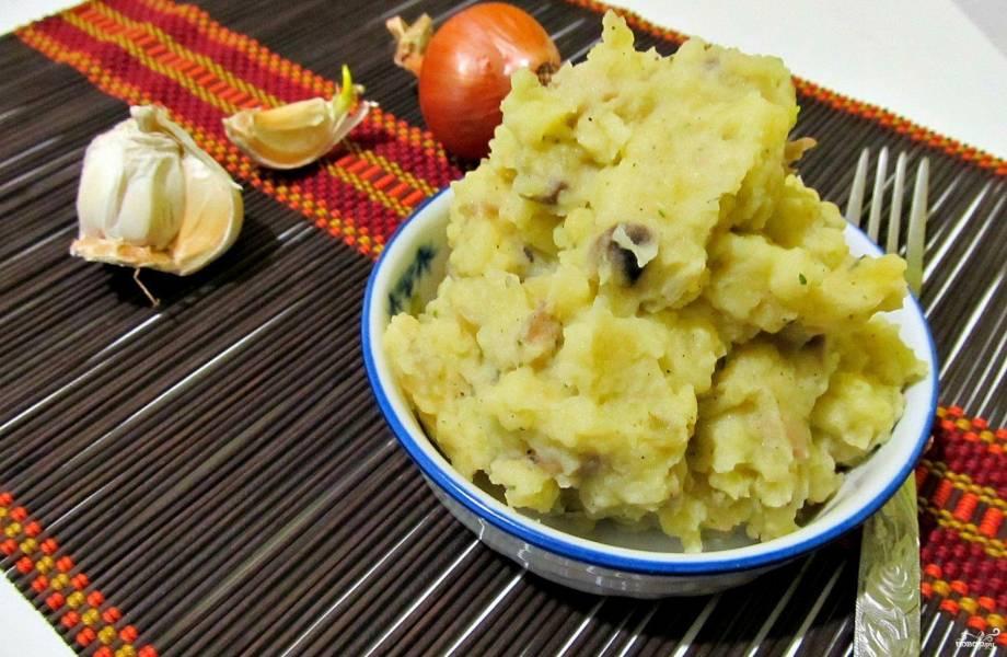 Картофельное пюре с шампиньонами