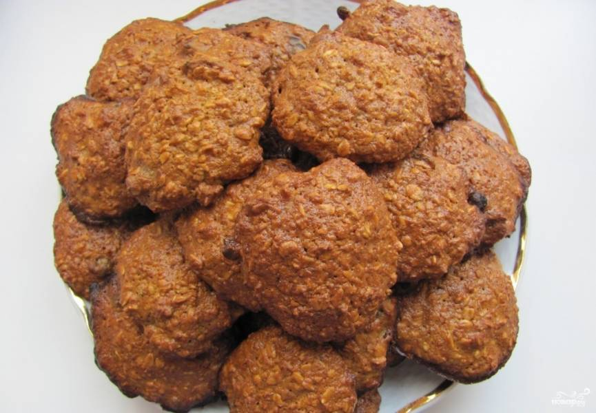 Овсяные печенья на кефире