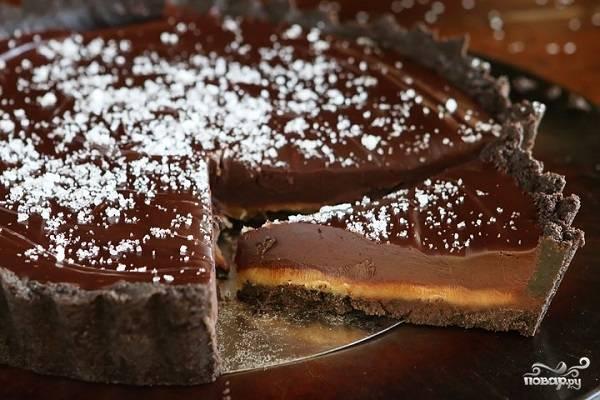 Торт с соленой карамелью