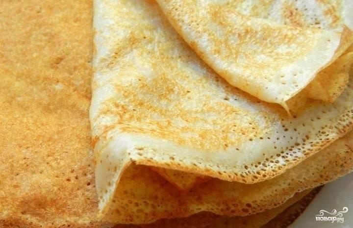 4. Вот и все! Вкусные блины с сыром готовы!