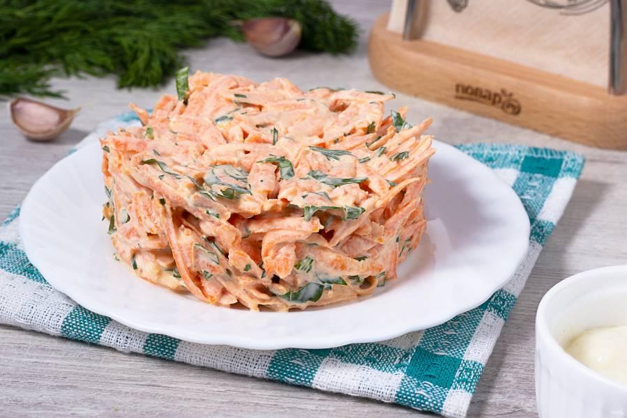 Салат с морковью и хреном