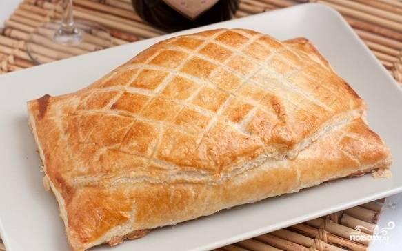 6. Отправляем блюдо в разогретую до 200 градусов духовку, запекаем при температуре 190 градусов до золотистого цвета.