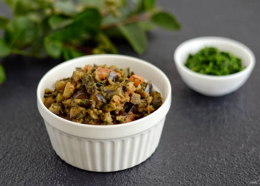 Баклажаны со шпинатом