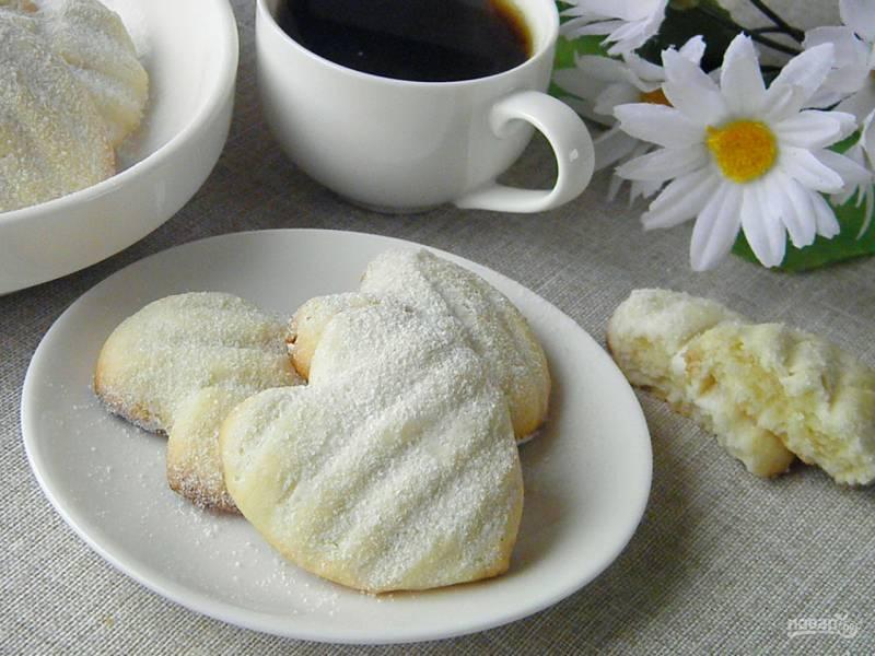 Печенье в форме сердечек
