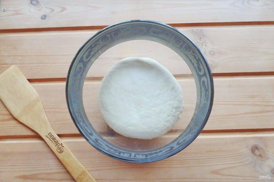 Замесите мягкое и эластичное тесто. Накройте полотенцем и поставьте в теплое место.