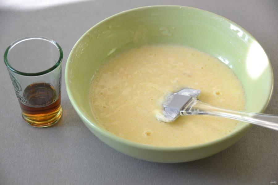 Можно добавить для аромата и вкуса 1 ст.ложку рома, ингредиент не обязательный, но он придаст заливке изысканный вкус.