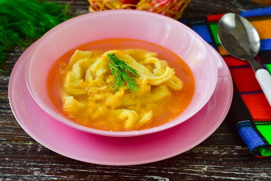 Гороховый суп с лапшой
