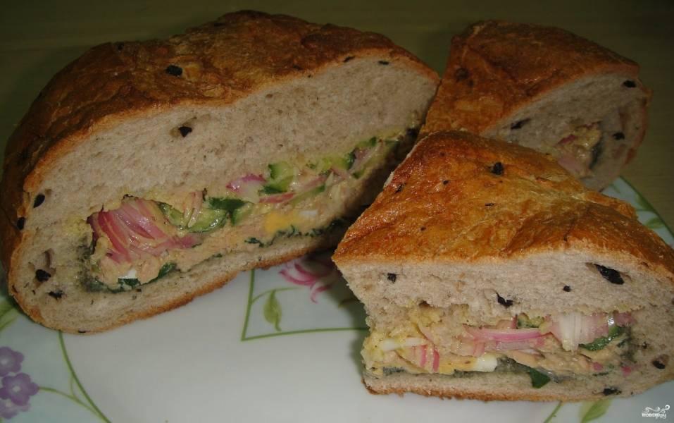 """Сэндвич с салатом """"Ницца"""""""