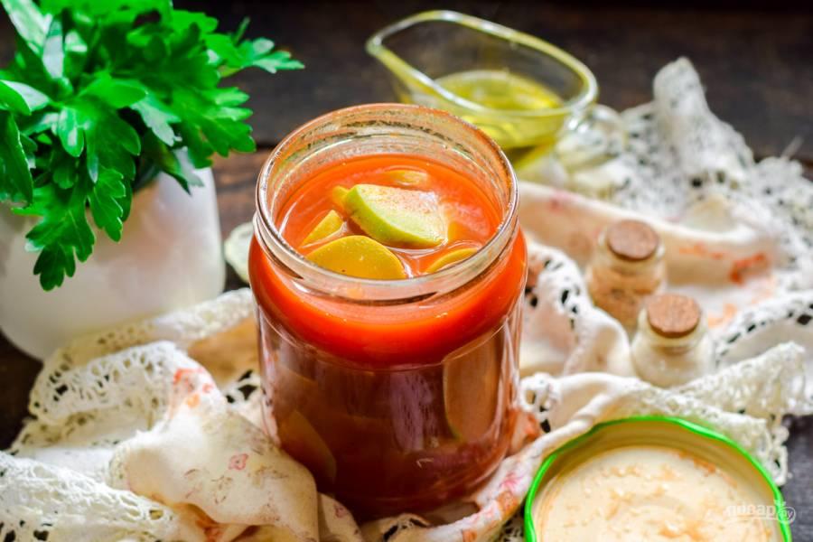 Кабачки с томатной пастой на зиму