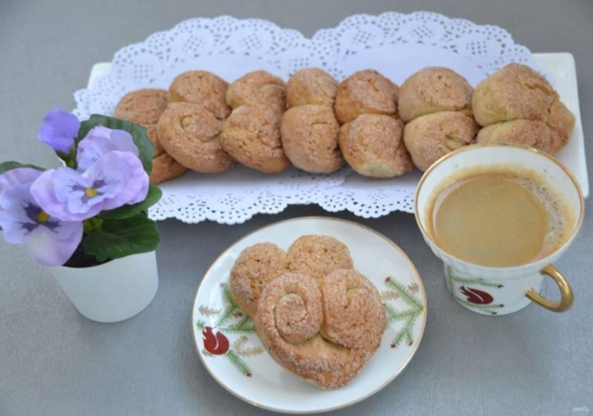 """Печенье из творога """"Сердечки"""" получилось красивое и вкусное. Оно отлично подходит к чаю и кофе."""