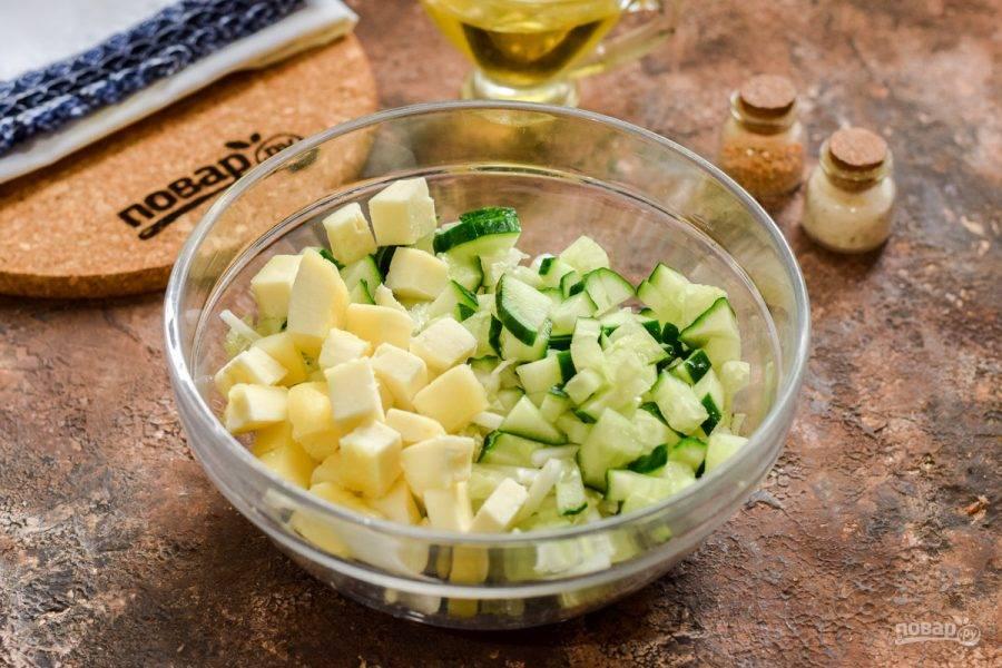 Все ингредиенты соедините в одной миске.