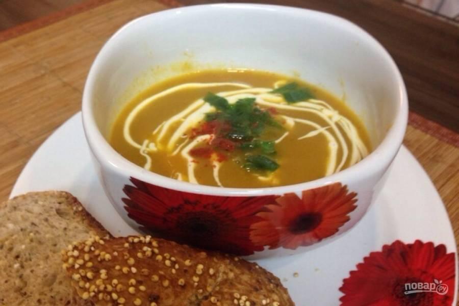 Суп из запеченных овощей