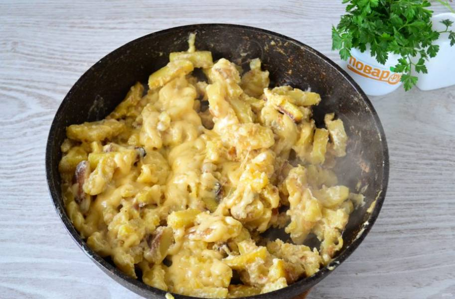 Готовьте до расплавления сыра.