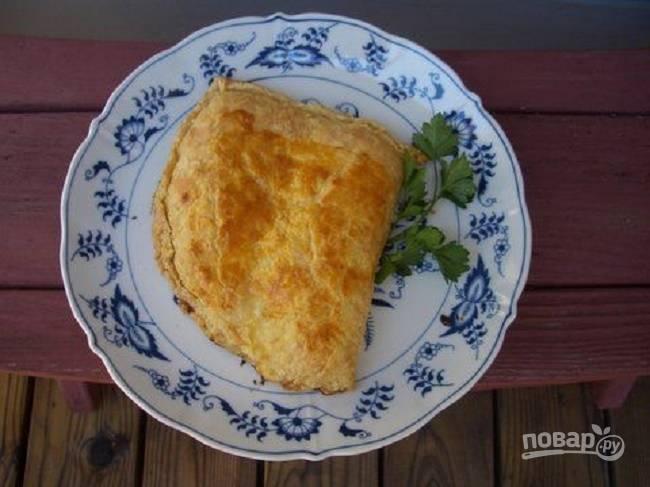Простой сырный пирог