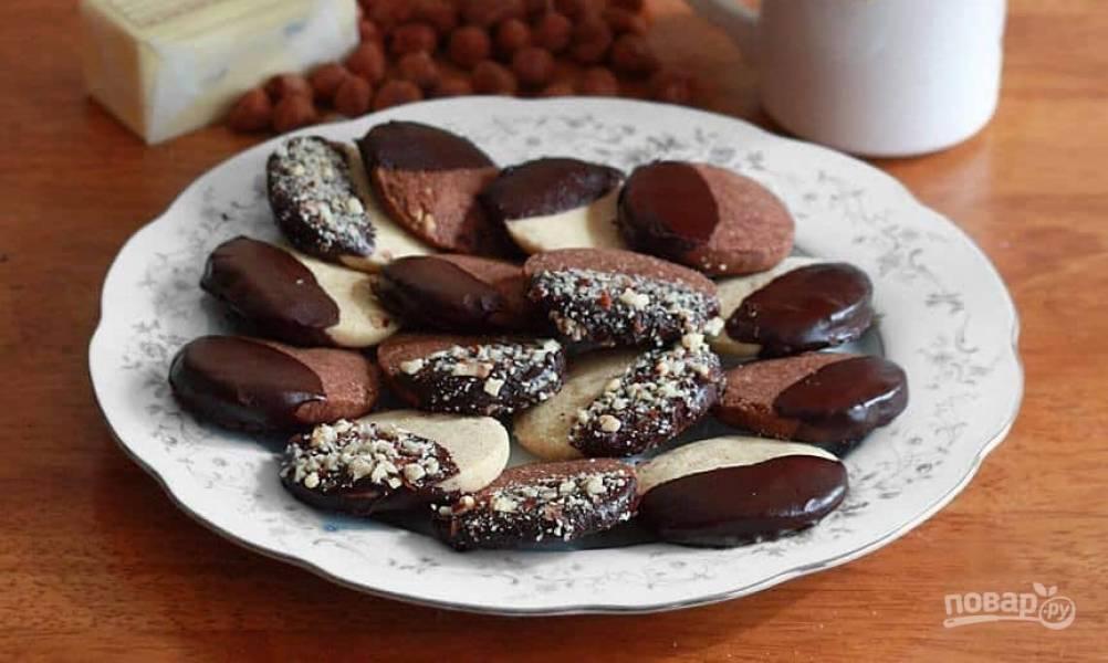 Ореховое печенье (песочное)