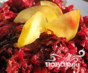 Салат из свеклы с огурцами