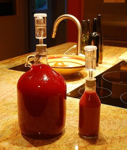 4. Далее фильтруем жидкость, переливаем вино в другую чистую тару, закупориваем. Храним в погребе, дожидаясь, когда вино будет готово. Рекомендую ждать не меньше трех месяцев. А полностью прозрачным, не мутным, оно станет аж через три года.