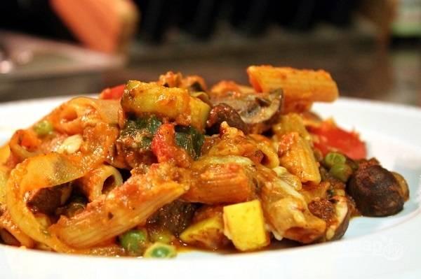 Запеканка из овощей и макарон