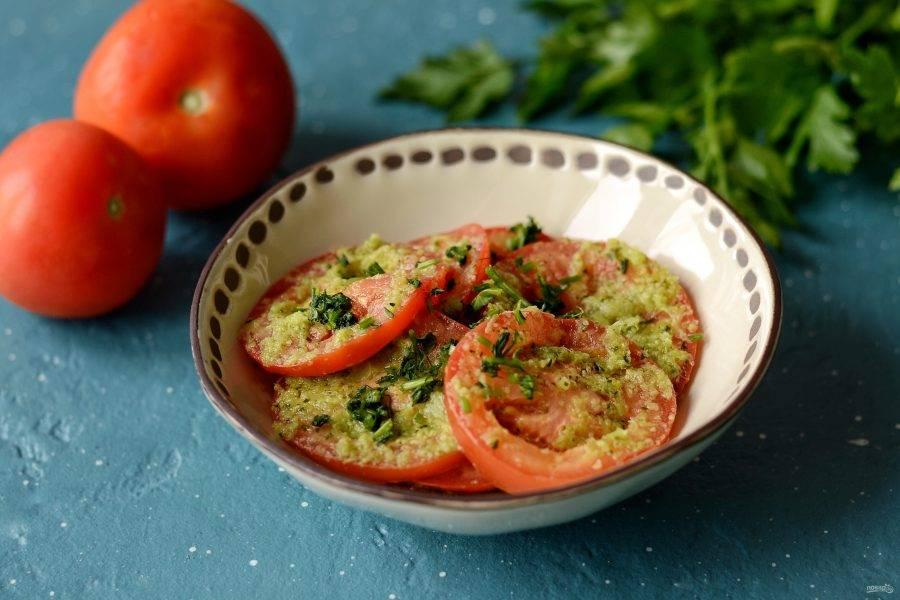 Спустя 2 дня закусочные помидоры будут готовы. Приятного аппетита!