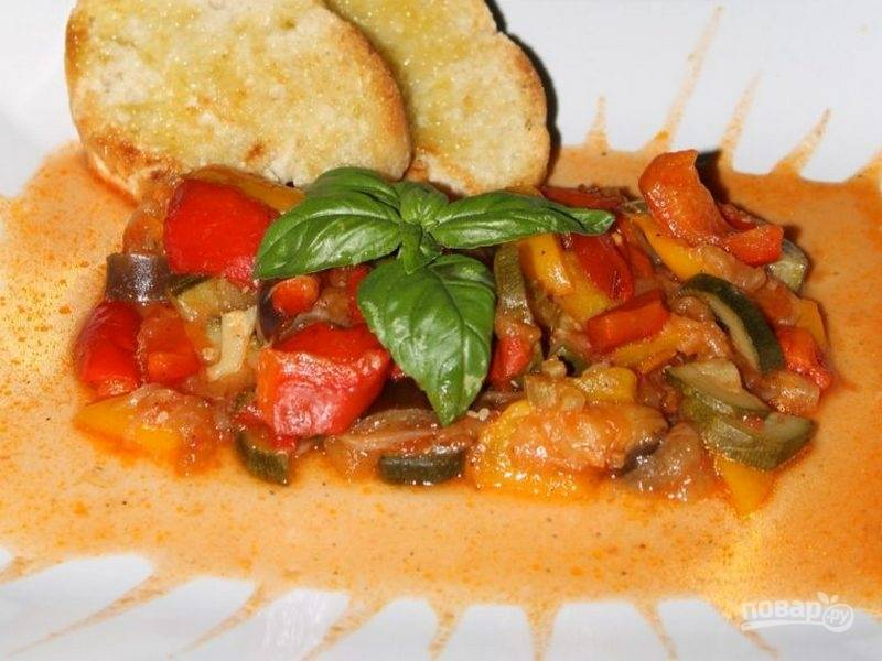 5.И вот готово красивое блюдо из микса овощей, приятного аппетита!