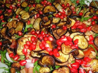 Салат из баклажанов с гранатом