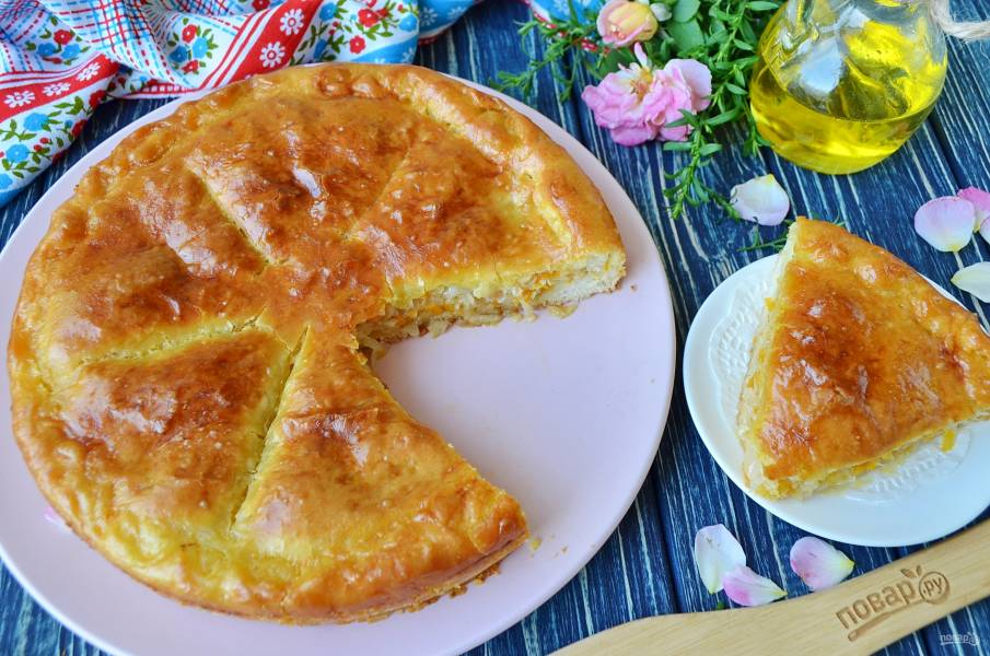 Пирог с капустой (мастер-класс)