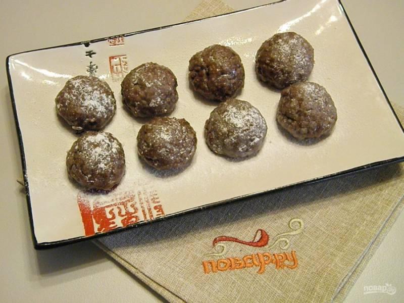 4. Сформированные печенюшки снова отправьте в морозилку на 20 минут. Готово!