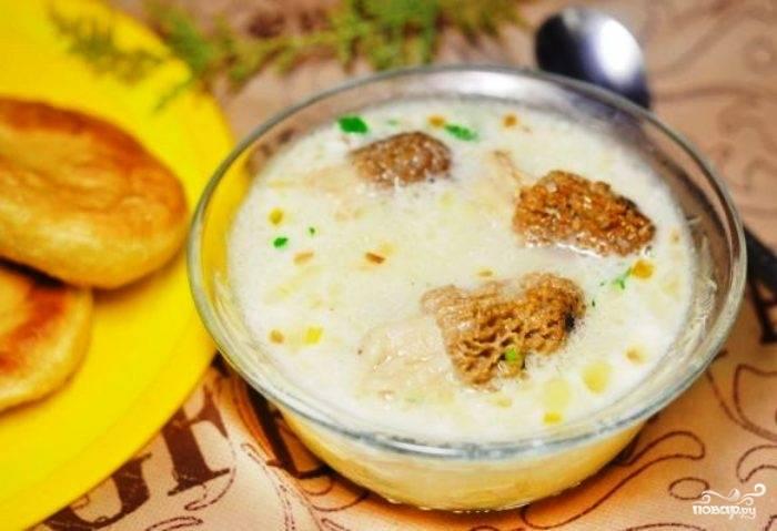 Суп из свежих сморчков