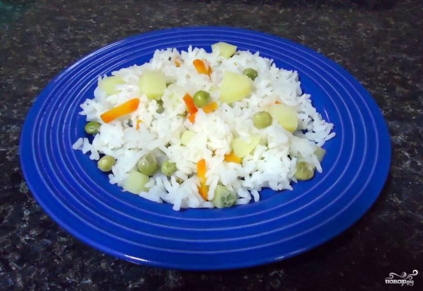 Рис с овощами в пароварке