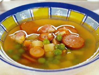 Гороховый суп с сосисками