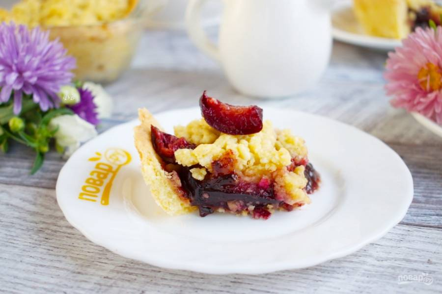 Пирог со сливами (классический)