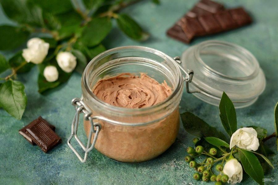 Замороженный шоколадный мусс готов, приятного вам аппетита!