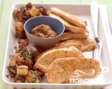 Котлеты из индейки с картофелем и грибами