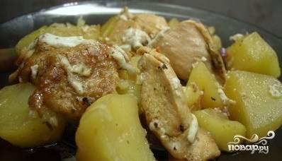Курица с картофелем в фольге