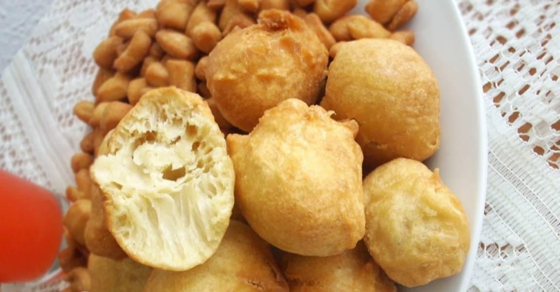 """3. Из этого теста можно много что приготовить, но я вам рекомендую сделать вот такие """"нигерийские"""" вкусные шарики во фритюре!"""