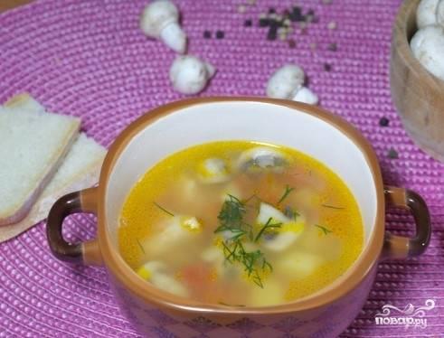 5. Снимите с огня. Теперь, когда вы узнали, как приготовить суп со свининой и грибами, дайте время, чтоб он настоялся. Затем разлейте по тарелкам и угостите своих близких. Приятного аппетита!