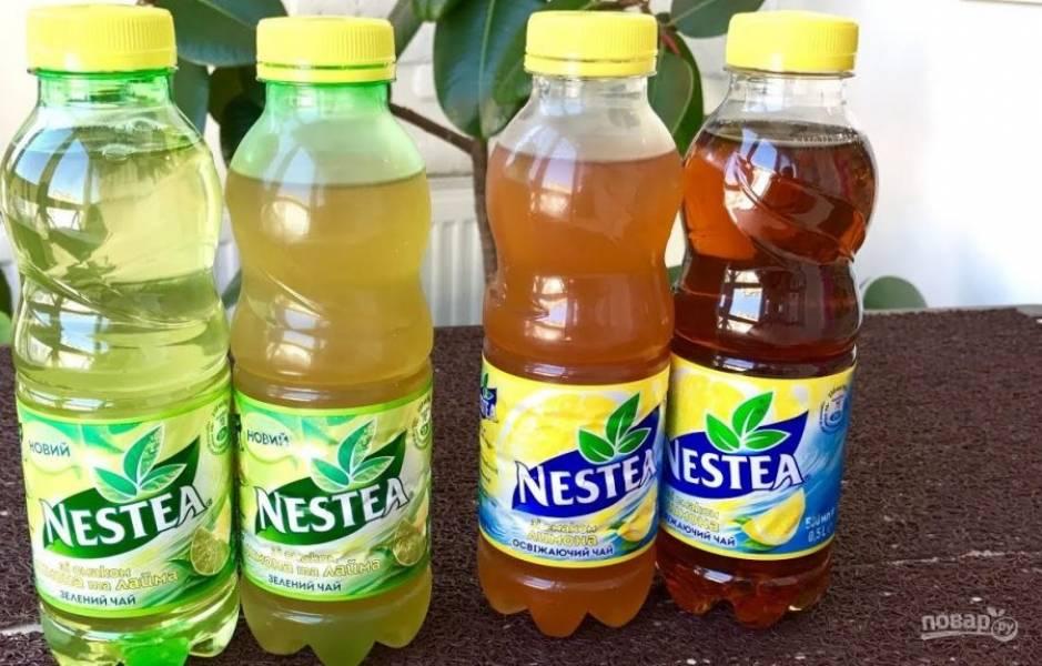 4.  Перелейте чай в графин и украсьте дольками цитрусовых. Отправьте чай в холодильник. Приятного аппетита!