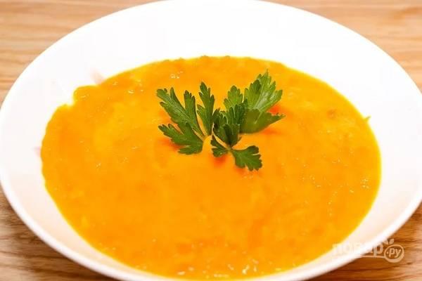 Пюре из моркови и риса