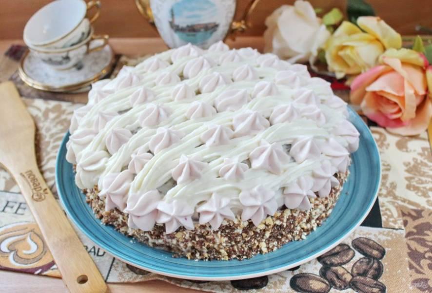 """Шоколадный торт с кремом """"Пломбир"""" готов."""