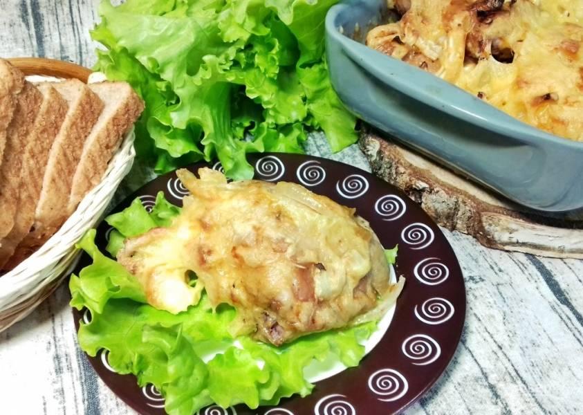 Маринованная курица под сыром