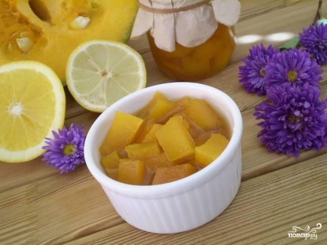 Варенье из тыквы с имбирем и лимоном